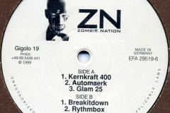 Zombie Nation - Kernkraft 400 - Gigolo Records 019 - vinyl label A