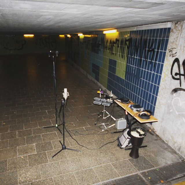 I recorded percussion in this underpass