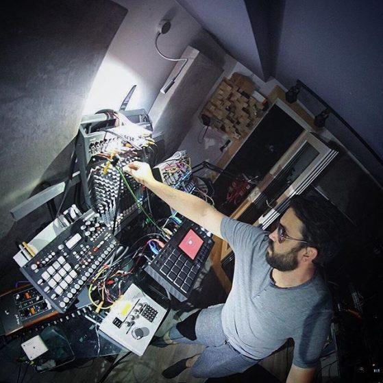 Sampler, drum machine, mixing desk.