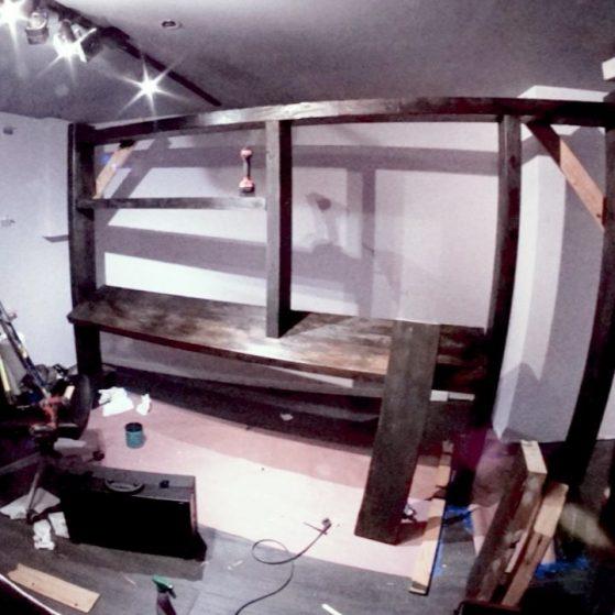 built a massive studio shelf